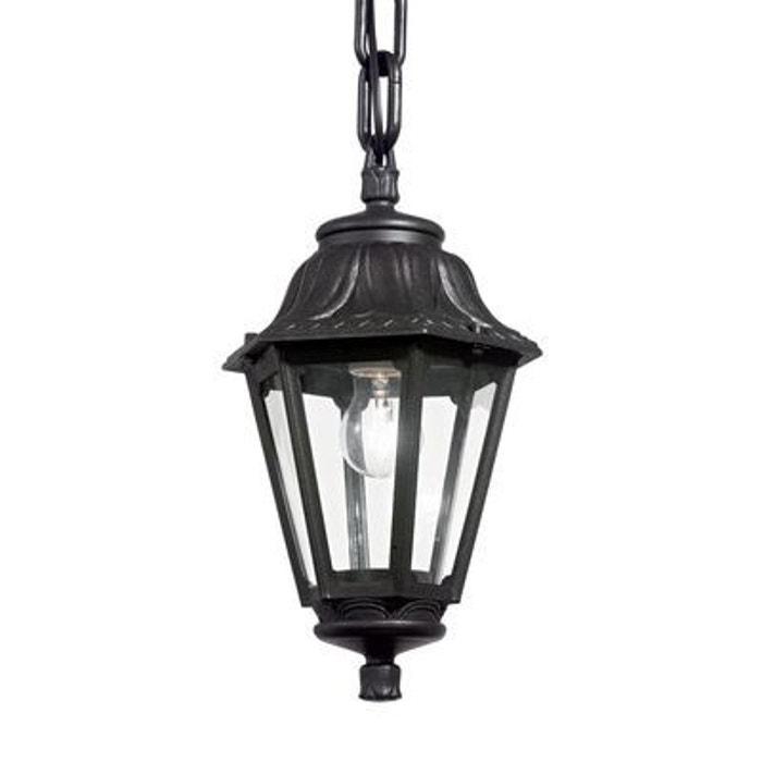 suspension ext rieure anna noir 1x60w ideal lux 101507. Black Bedroom Furniture Sets. Home Design Ideas