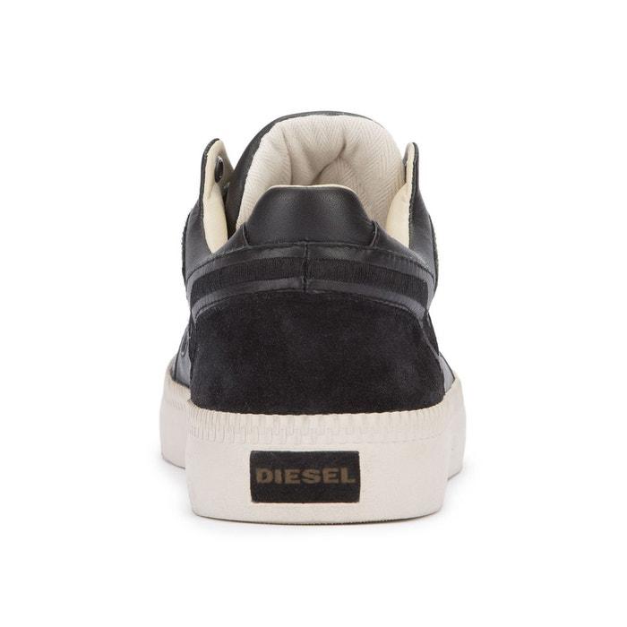 Sneakers spaark low cuir noire pour homme noir Diesel