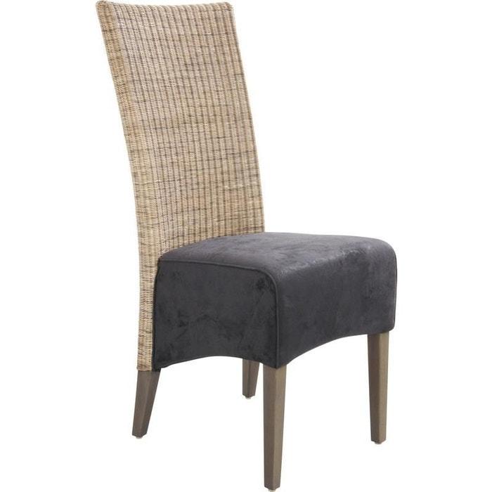chaise rotin et teck teint gris gris aubry gaspard la redoute. Black Bedroom Furniture Sets. Home Design Ideas