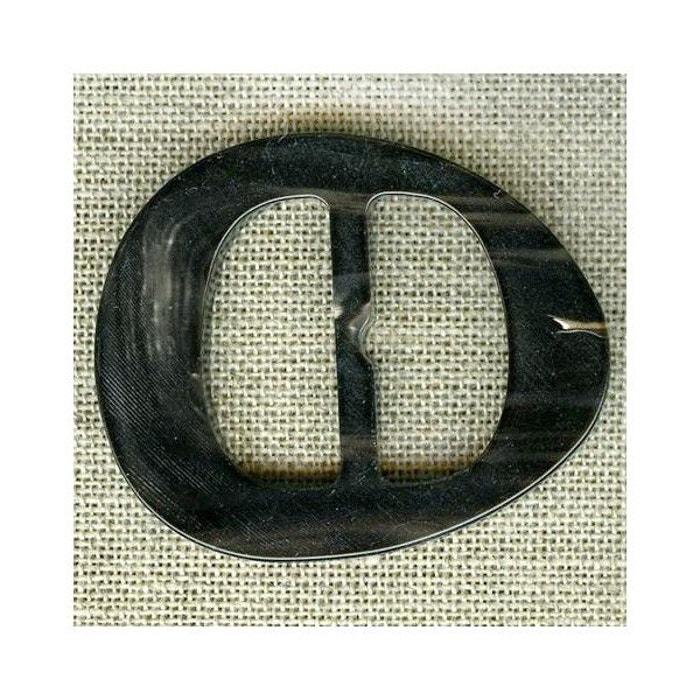7e6aae9824e8 Boucle de ceinture faux ovale, col. noir jaspé noir La Mercerie Parisienne    La Redoute