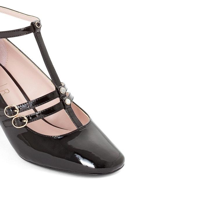 0cc984dc96b Bailarinas de charol con detalle estilo perlas negro LA REDOUTE COLLECTIONS