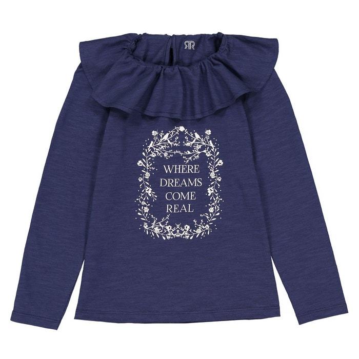 efe9ac99528e7 T-shirt manches longues col pierrot 3-12 ans bleu foncé La Redoute  Collections