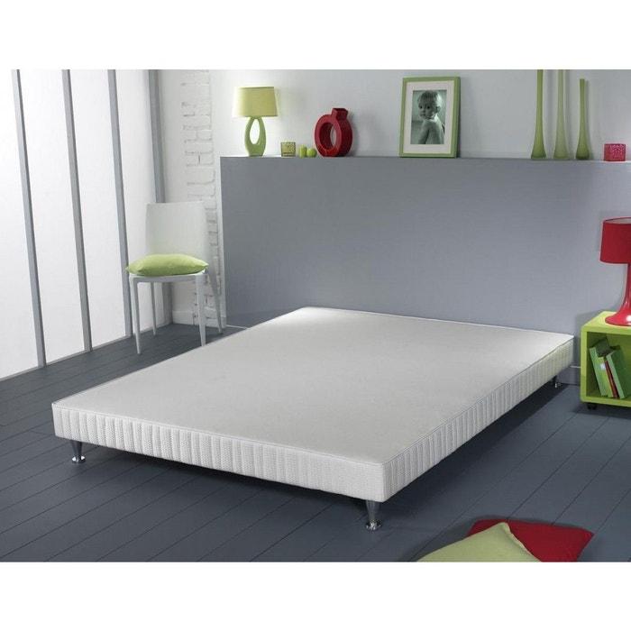 sommier simmons vitasom lattes recouvertes pieds blanc. Black Bedroom Furniture Sets. Home Design Ideas
