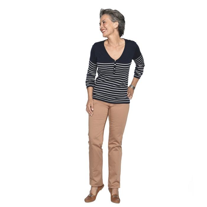 de tintados WEYBURN 10 hilos marinero ANNE lana de estilo Jersey C6gqg7wX