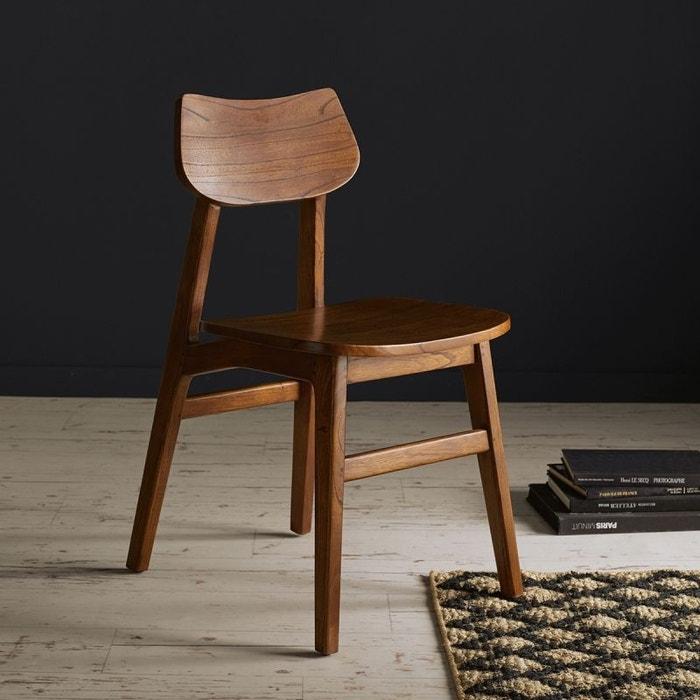 chaise en bois finition noyer noyer bois dessus bois dessous la redoute. Black Bedroom Furniture Sets. Home Design Ideas