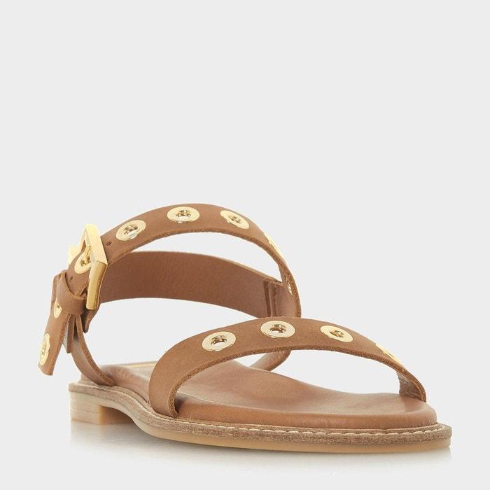 Sandales plates cloutées en deux parties - loope  Dune London  La Redoute
