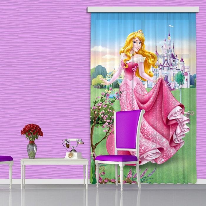 Rideaux princesse aurore disney-occultant : 140x245 cm rose ...