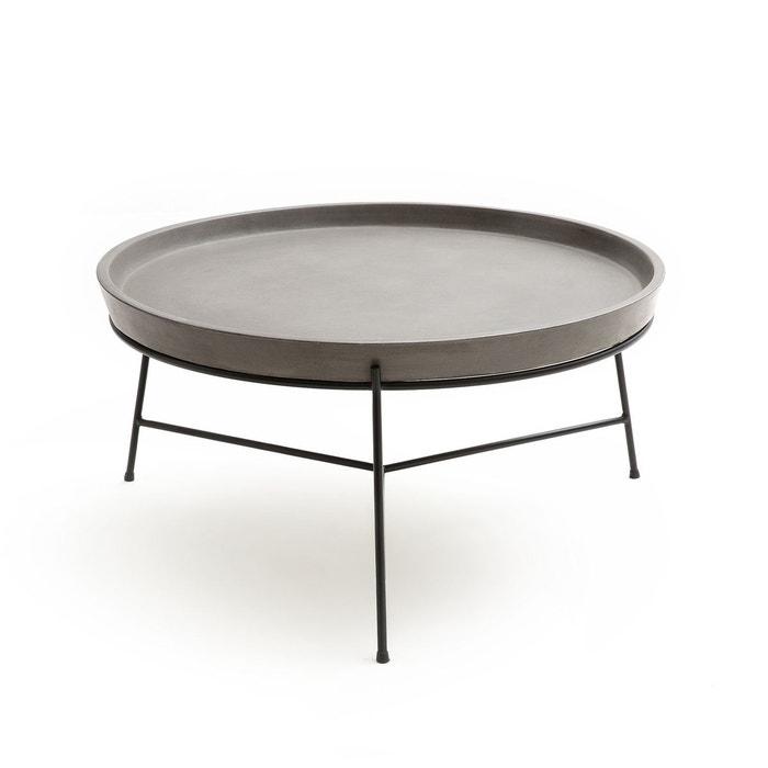 table basse ciment ademola ciment am pm la redoute. Black Bedroom Furniture Sets. Home Design Ideas