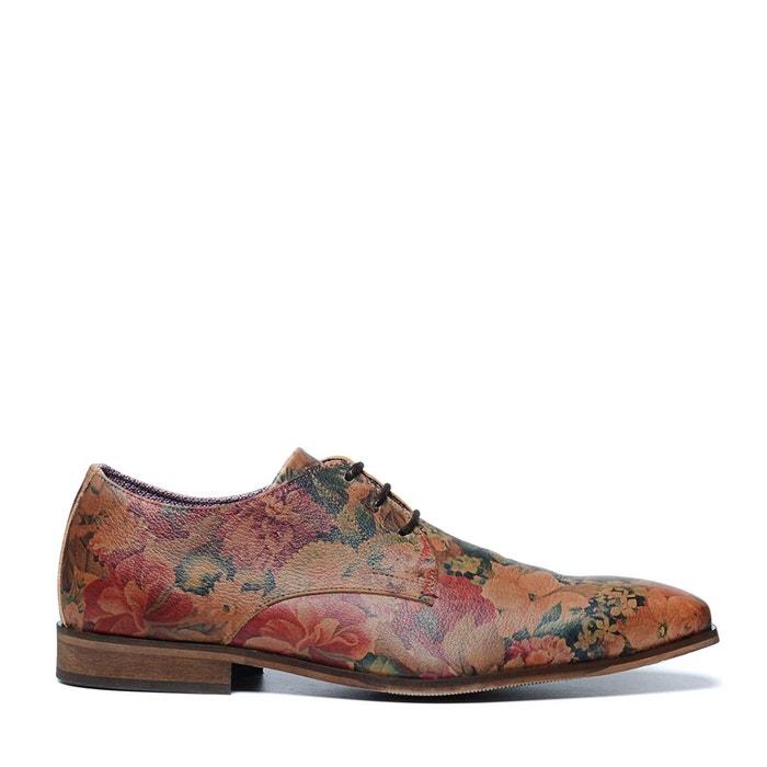 Chaussures à lacets avec imprimé fleuri multicolore Sacha