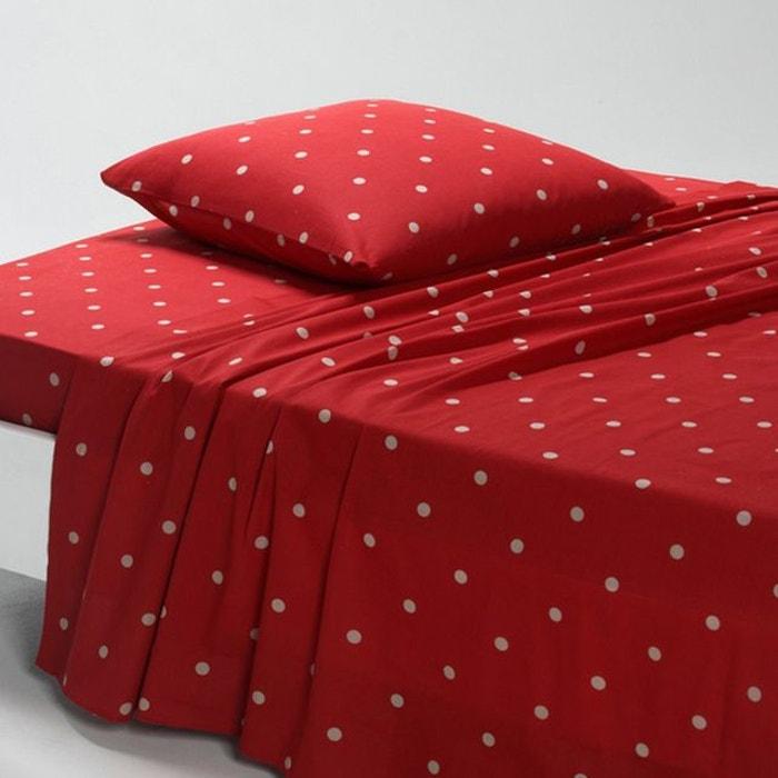 drap edelweiss rouge la redoute interieurs la redoute. Black Bedroom Furniture Sets. Home Design Ideas