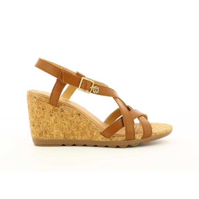 9507e6e812842 Penya leather sandals , camel, Hush Puppies | La Redoute