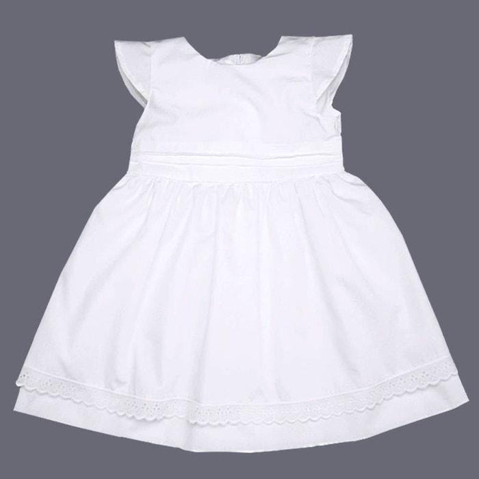 6d8f31ce4133c Robe baptême et cérémonie 0 mois-10 ans made in france blanc Poussin Bleu