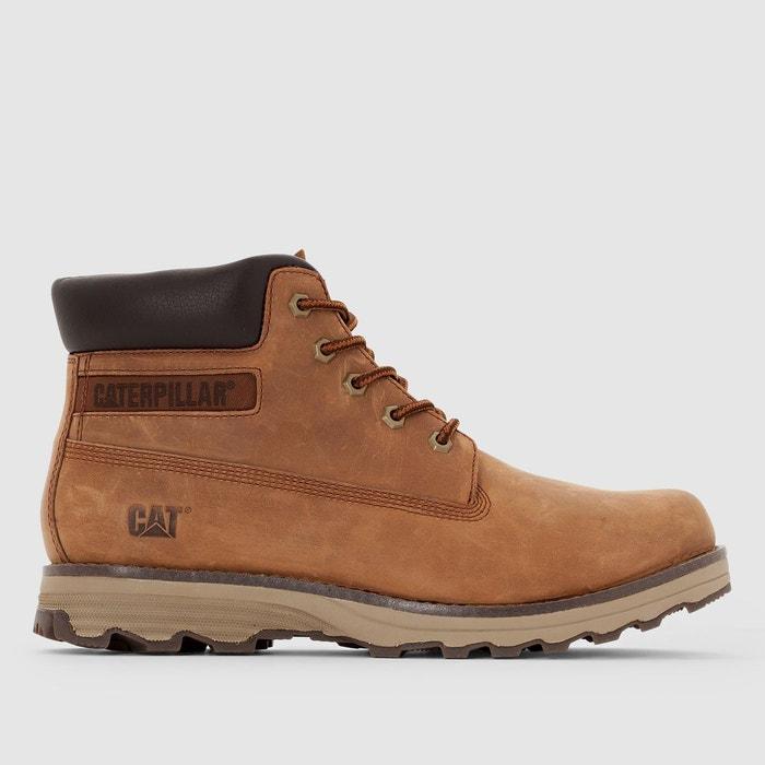 ef5438c5481b9a Boots en cuir founder marron foncé Caterpillar | La Redoute