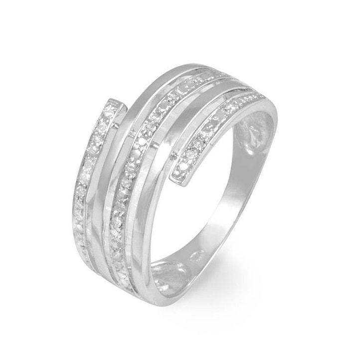 Bague or blanc eleonore large diamants blanc Histoire D'or | La Redoute Négligez Dernières Collections Mrz6xWO
