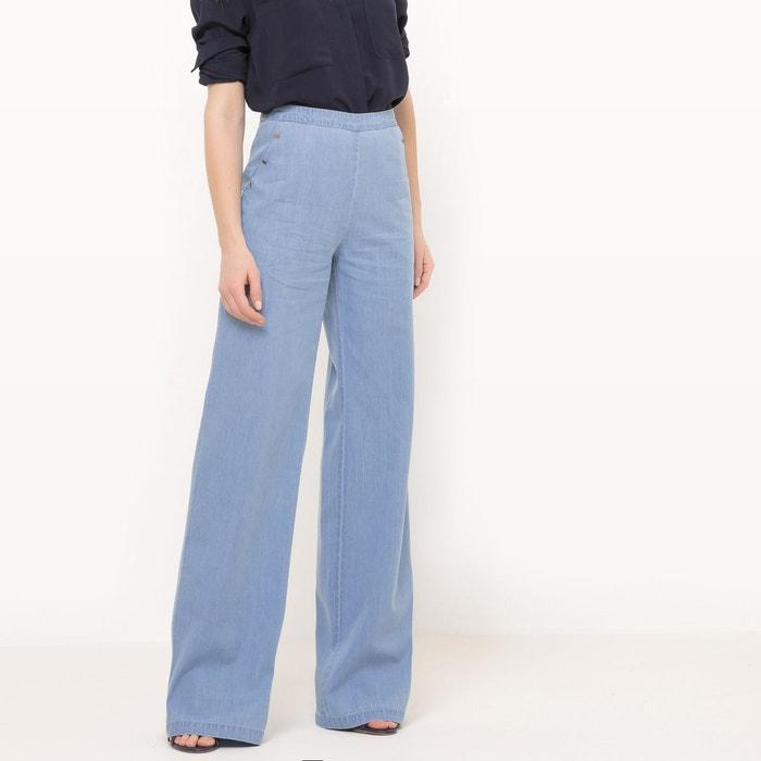 Pantalon large en denim light  La Redoute Collections image 0