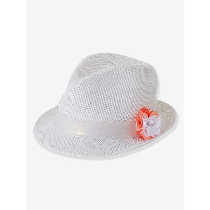 chapeau paille b b fille blanc imprim vertbaudet la redoute. Black Bedroom Furniture Sets. Home Design Ideas