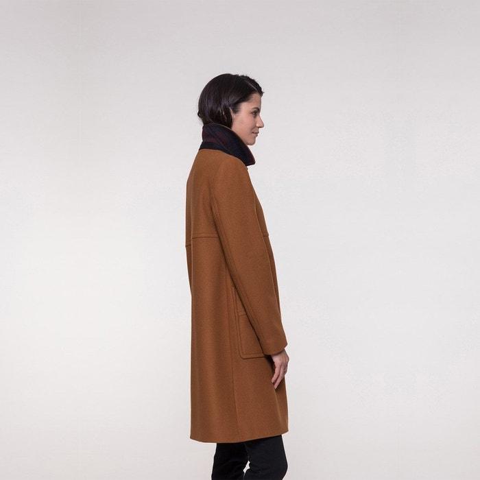 Manteau esprit rétro en drap de laine souple