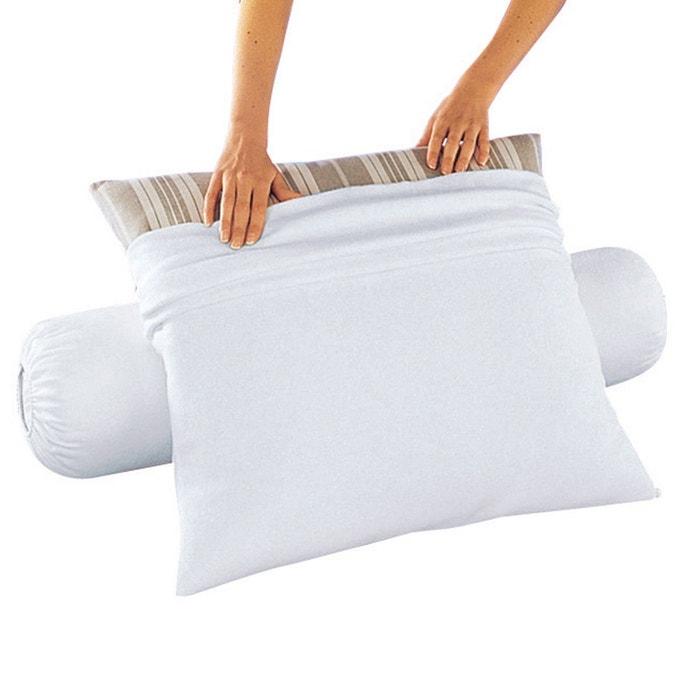 sous taie oreiller molleton anti acariens blanc la redoute. Black Bedroom Furniture Sets. Home Design Ideas