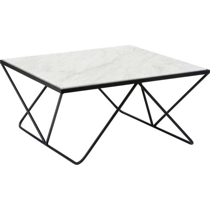 table basse m tal et marbre noir amadeus la redoute. Black Bedroom Furniture Sets. Home Design Ideas