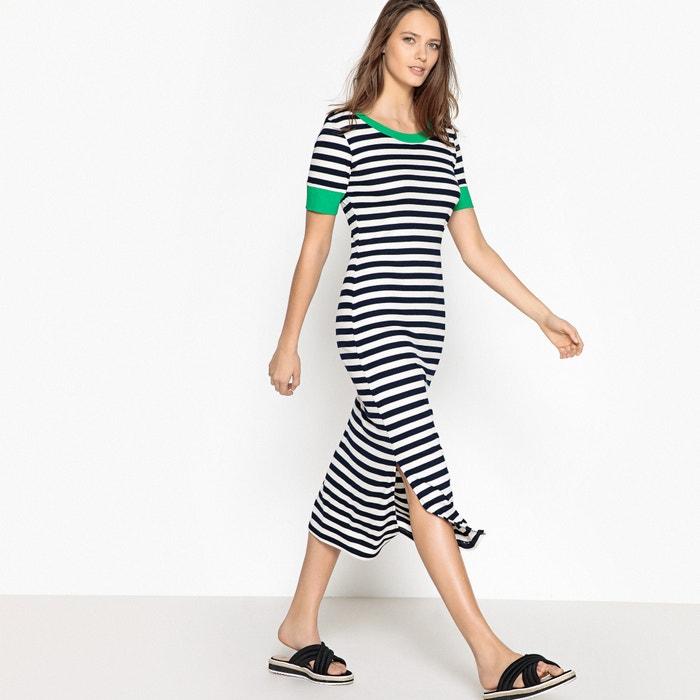 Striped Bodycon Midi Dress  La Redoute Collections image 0