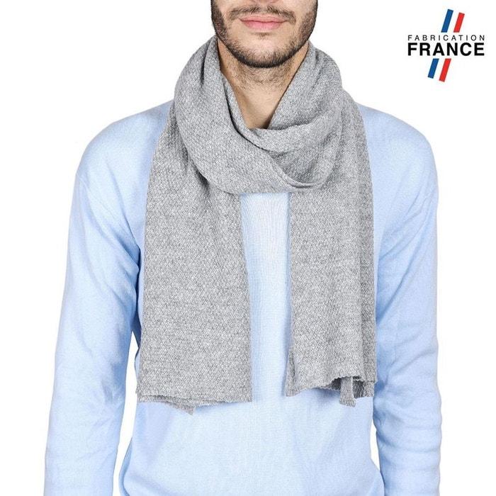 1eaefc47a534 Echarpe homme solas grise - fabriqué en france gris Qualicoq   La Redoute