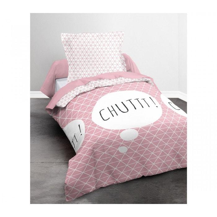 Parure de lit enfant rose chut 140x200 rose today la redoute - La redoute parure de lit ...