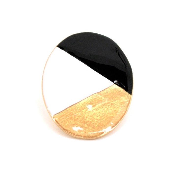 Grande bague ovale tricolore réglable noir Little Woman Paris | La Redoute Les Dates De Sortie Authentique Pour Pas Cher vuLx0R0