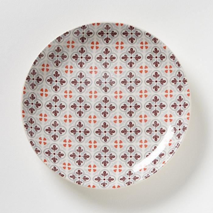 afbeelding Set van 4 dessertborden met tegelprint La Redoute Interieurs