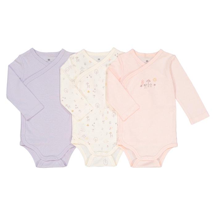 Lote de 3 bodies para recién nacido de algodón orgánico 173c1f2b8cb1