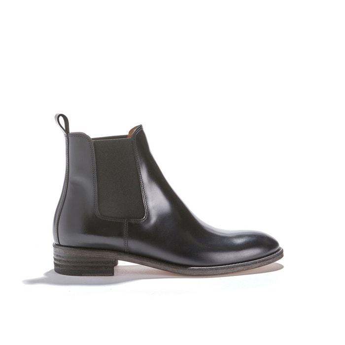 NOIR 7226 PARIS vachette cuir POLIDO Boots ANTHOLOGY w0qYU7