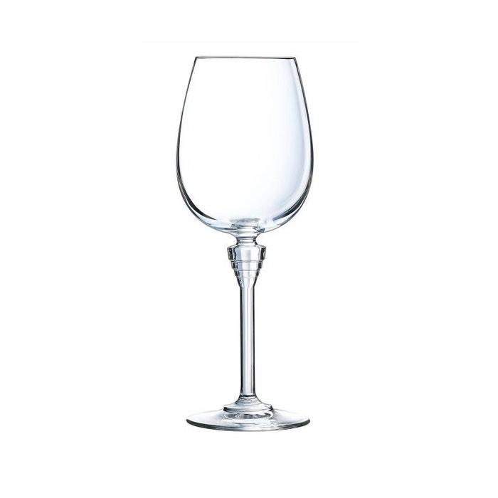 Cristal Darques Verres.6 Verres A Pied 35cl Amarante