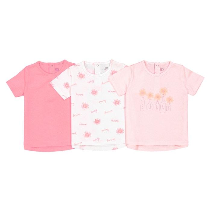 Lot de 3 T Shirts 1 mois-3ans Oeko Tex  La Redoute Collections image 0
