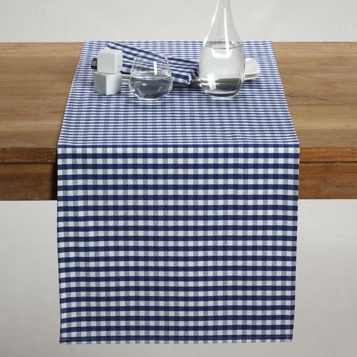 Image Chemin de table tissé-teint pur coton vichy, Garden Party La Redoute Interieurs