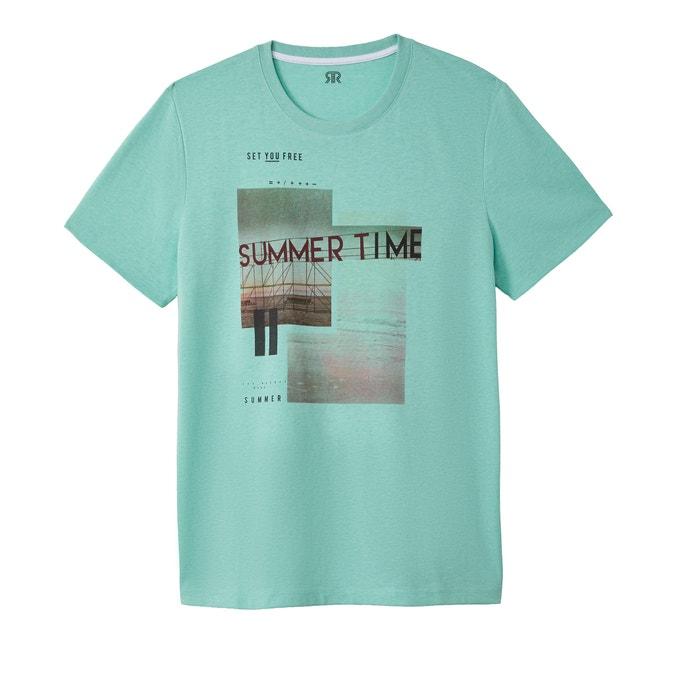 T-shirt con scollo rotondo fantasia  La Redoute Collections image 0