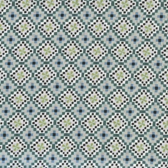 tissu liberty aida col vert c ladon glacier anis bleu. Black Bedroom Furniture Sets. Home Design Ideas
