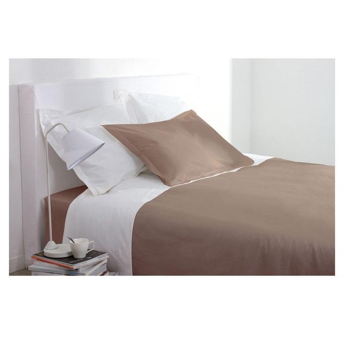 housse de couette 220 x 240 cm taupe taupe atmosphera la redoute. Black Bedroom Furniture Sets. Home Design Ideas