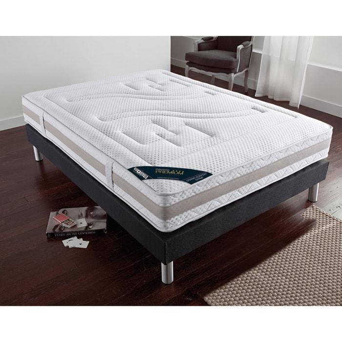 matelas ressorts ensach s grand confort ferme 7 zones blanc reverie premium la redoute. Black Bedroom Furniture Sets. Home Design Ideas