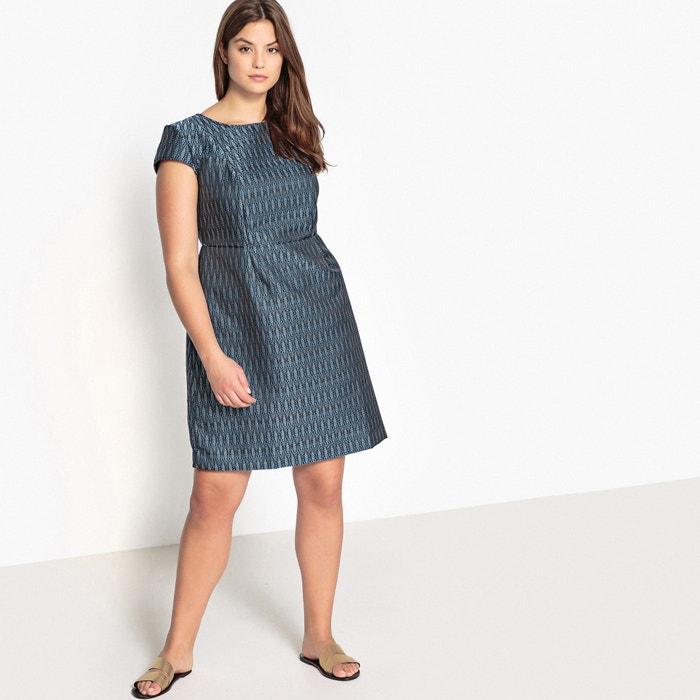 Short Graphic Print Flared Dress  CASTALUNA image 0