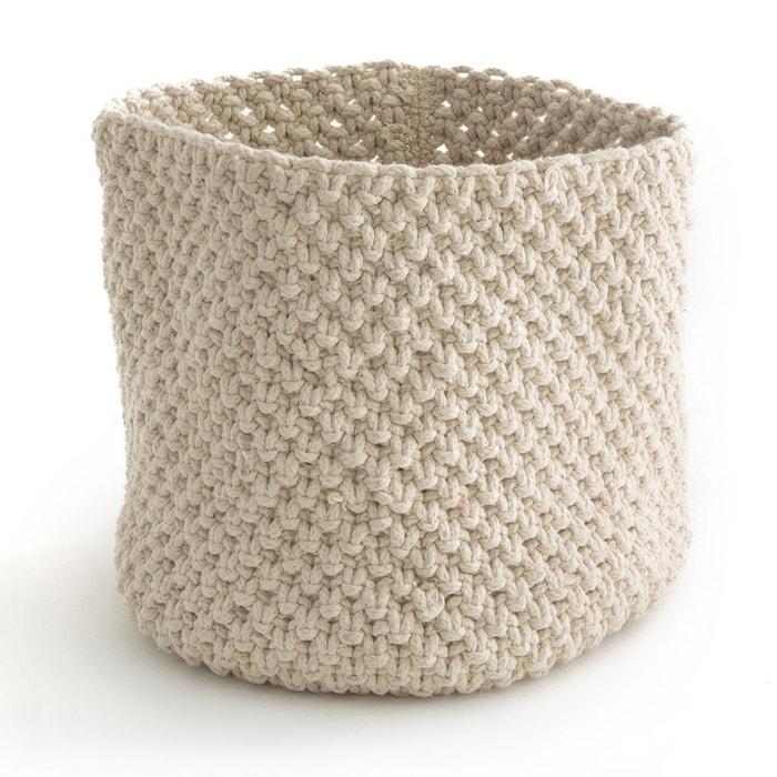 panier de rangement en tricot lopup ecru la redoute. Black Bedroom Furniture Sets. Home Design Ideas