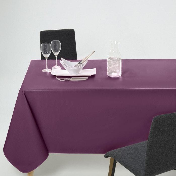 Nappe unie pvc scenario la redoute - Nappe de table rectangulaire grande taille ...