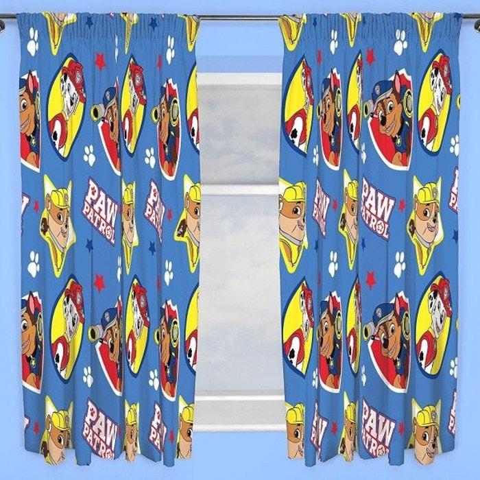 double rideaux pat patrouille 135 cm multicolore pat. Black Bedroom Furniture Sets. Home Design Ideas
