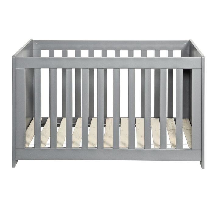 Lit bébé bois massif 60x120 gris béton gris béton Alfred Et ...