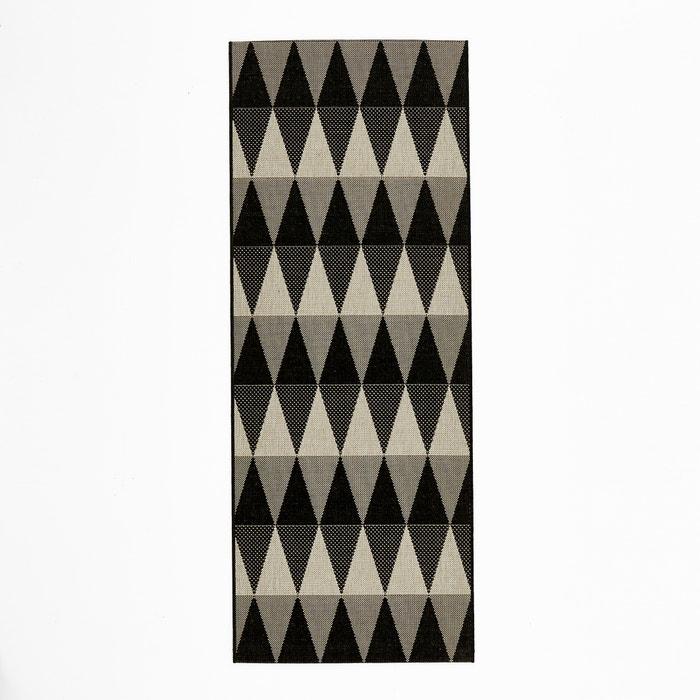 teppich f r den flur rauten mourwad ecru schwarz la redoute interieurs la redoute. Black Bedroom Furniture Sets. Home Design Ideas