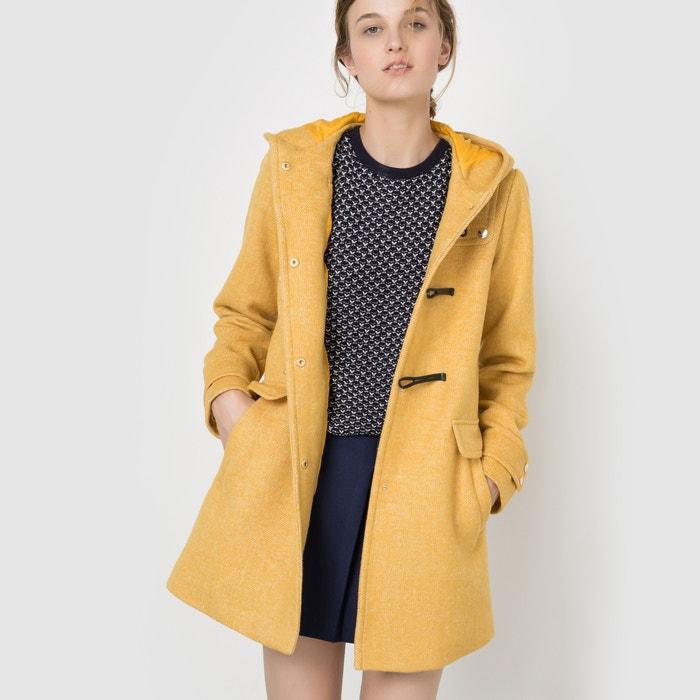 Image Duffle coat à capuche en drap de laine MADEMOISELLE R