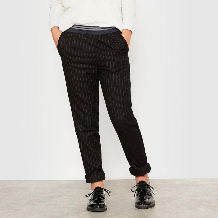 pantalon fluide ray esprit lainage 10 16 ans bleu marine r pop la redoute. Black Bedroom Furniture Sets. Home Design Ideas