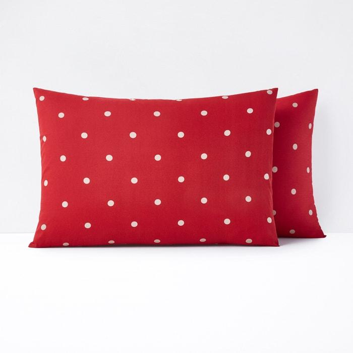 EDELWEISS Polka Dot Cotton Pillowcase  La Redoute Interieurs image 0