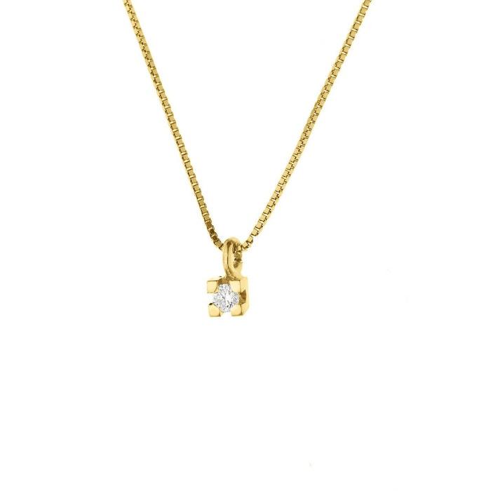 Collier diamant solitaire Vente En Ligne Pas Cher Prix Pas Cher Exclusif explorer Moins De 70 Dollars Haute Qualité kBzxy