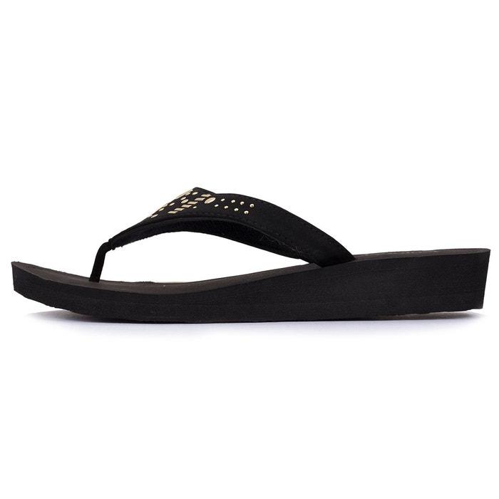 Sandales femme à talon  noir Isotoner  La Redoute