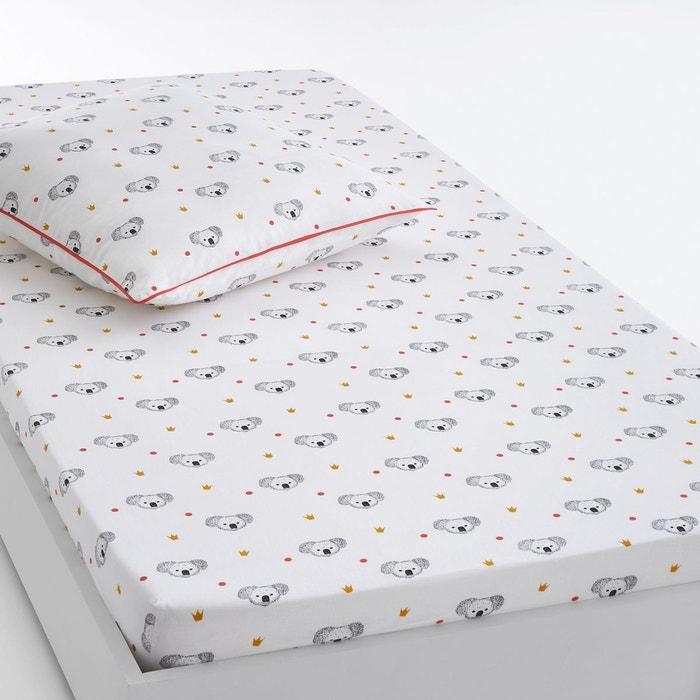 drap housse imprim koala blanc noir la redoute interieurs en solde la redoute. Black Bedroom Furniture Sets. Home Design Ideas