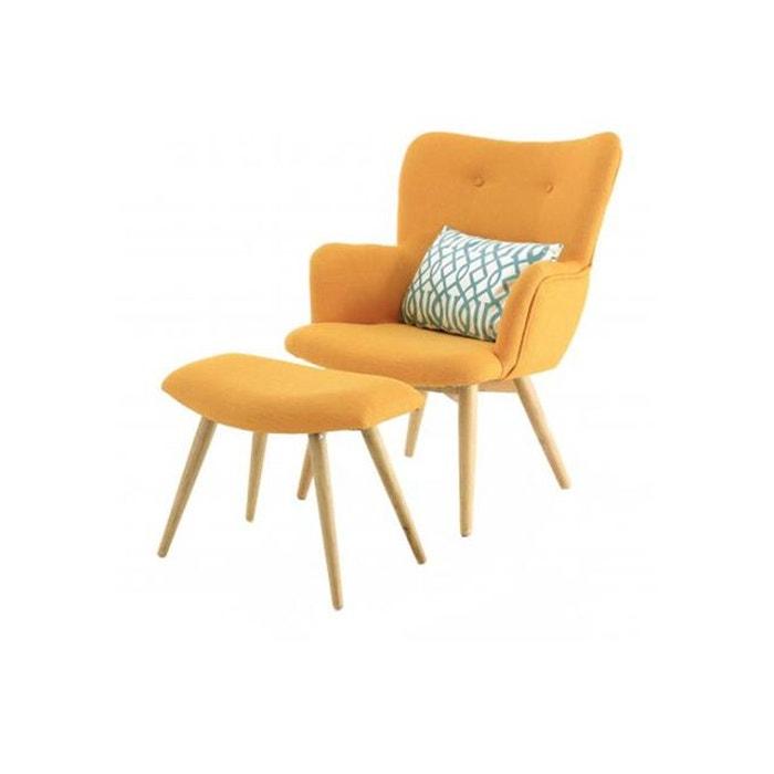 fauteuil avec repose pieds stockholm zago la redoute. Black Bedroom Furniture Sets. Home Design Ideas